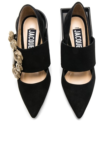 Suede Boucle Heels