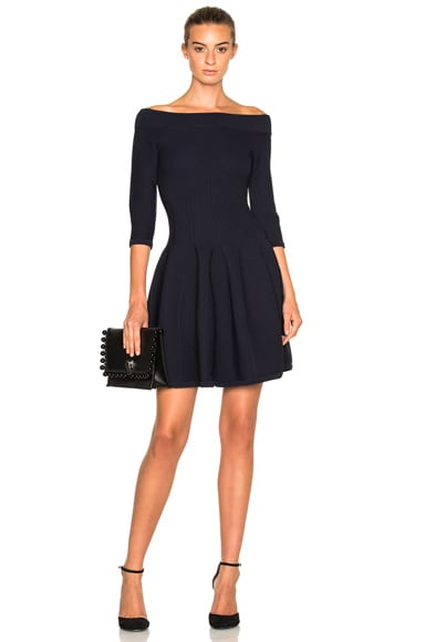 JONATHAN SIMKHAI Off The Shoulder Dress in Navy