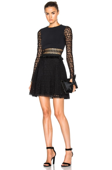JONATHAN SIMKHAI Flare Dress in Black
