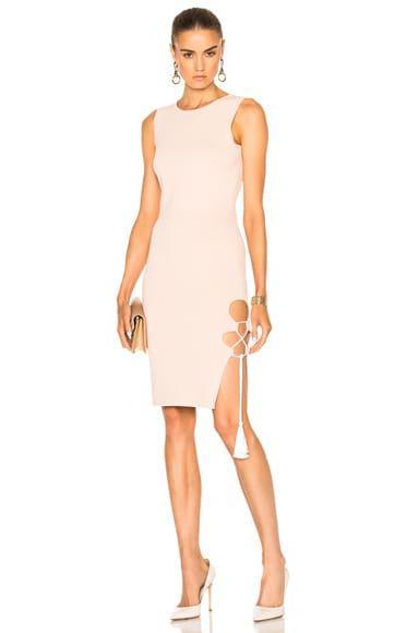 JONATHAN SIMKHAI for FWRD Knit Lace-up Dress in Nude