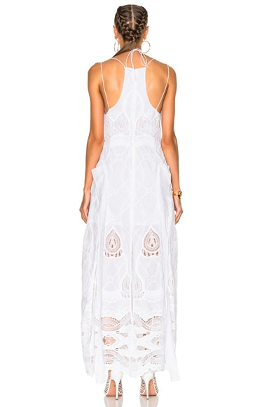 Crochet Embroidered Deep V Maxi Gown
