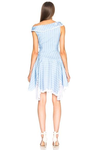 Scallop Mini Wrap Dress