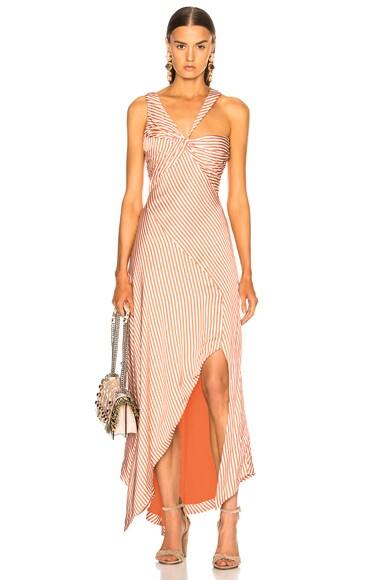 Stripe Twist Ruffle Dress