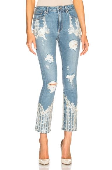 Diamonte Stove Pipe Jeans