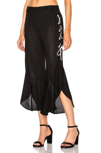 Ruffle Jersey Pant