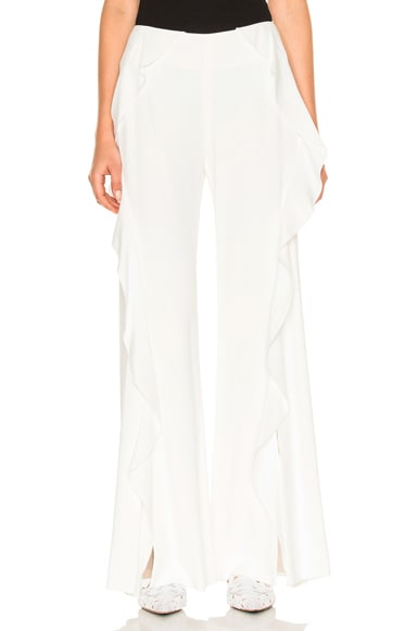 Cocktail Stretch Ruffle Pant