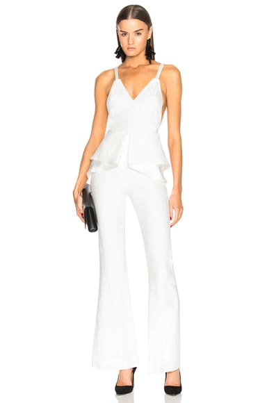 Combo Stitch Sateen Jumpsuit