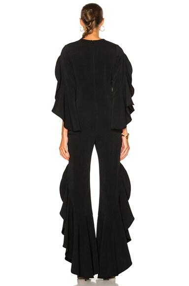 Ruffle Sleeve Combo Jumpsuit