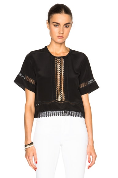 Silk Sleeve Flare Top