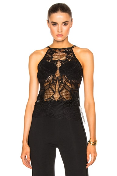 Corded Linear Lace Top