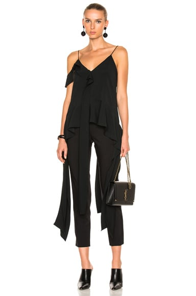 JONATHAN SIMKHAI Cocktail Stretch Strap Top in Black