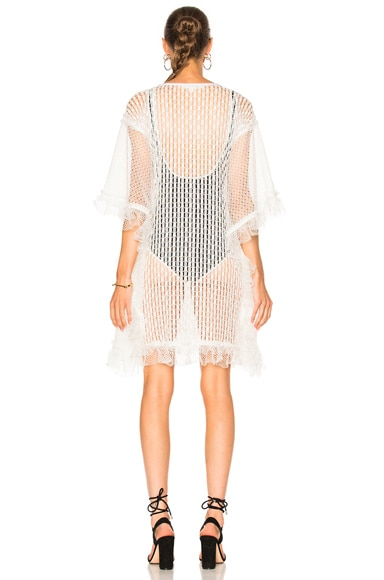 Basketweave Mini Caftan Cover-Up
