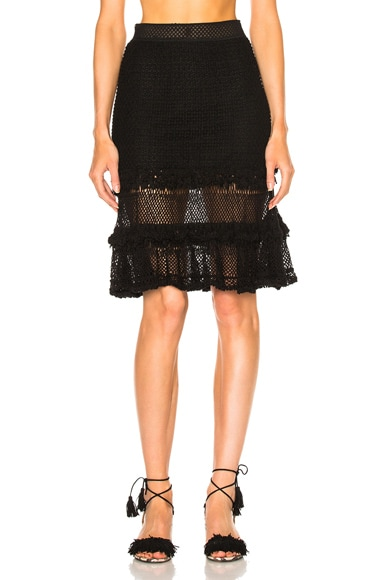 Ruffle Crochet Layered Mini Skirt