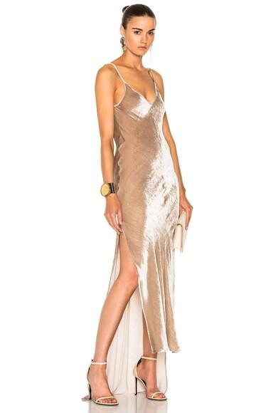 Velvet High Low Slip Dress