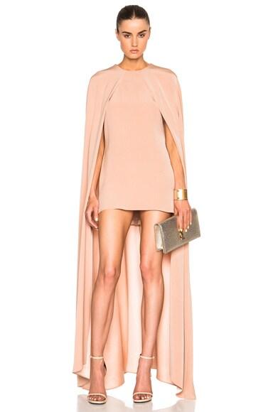 Juan Carlos Obando FWRD Exclusive Cape Dress in Blush