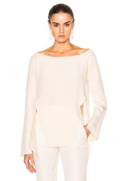 Rowena Silk Crepe Long Sleeve Blouse