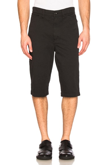 Junya Watanabe Cotton Polyester Twill Shorts in Black