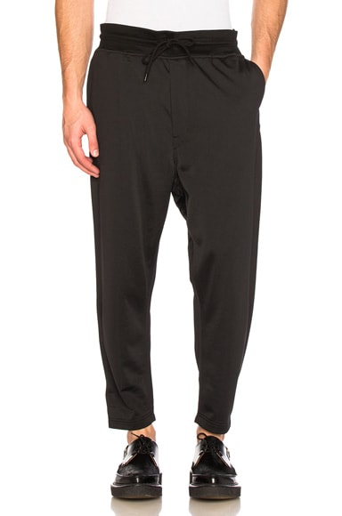 Junya Watanabe Nylon Cotton Loopback Sweatpants in Black