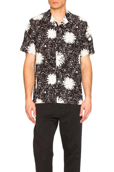 Junya Watanabe Cupra Voile Print Shirt in Black & White