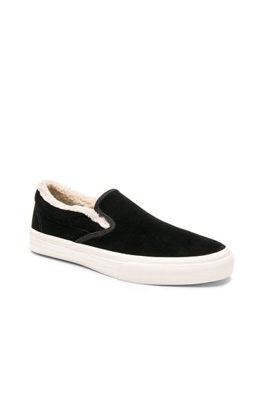 Velour With Sherpa Lining Slip On Shoes