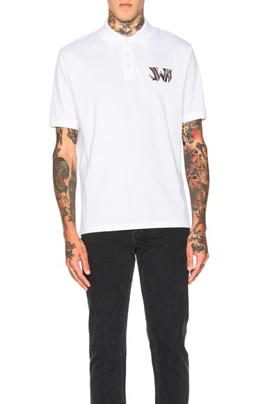 J.W. Anderson New Logo Polo in White