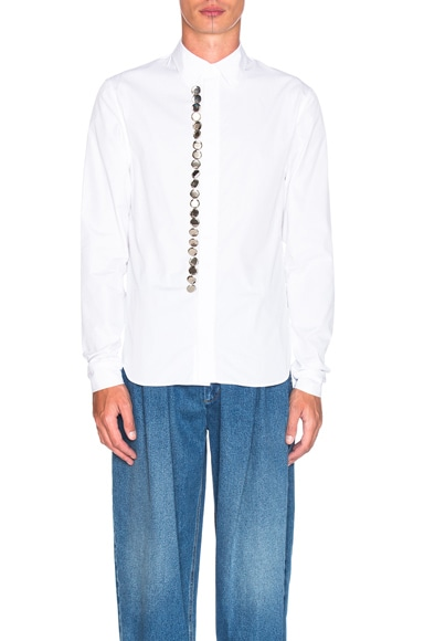 J.W. Anderson Multiple Button Front Shirt in White