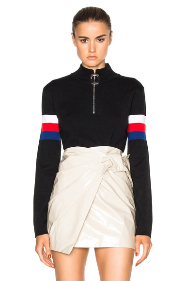 J.W. Anderson Mock Neck Sweater in Black & Blue