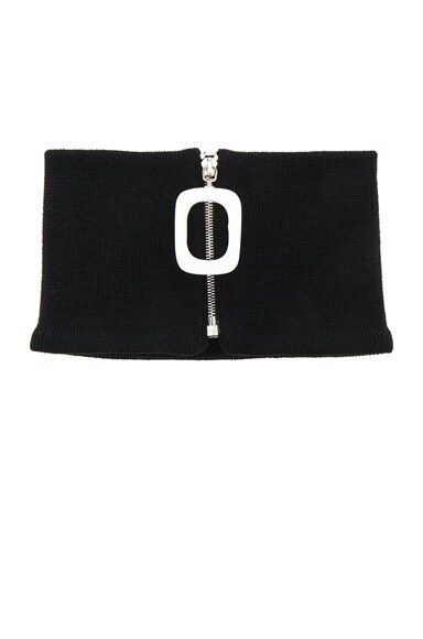 J.W. Anderson Zip Detail Neckband in Black