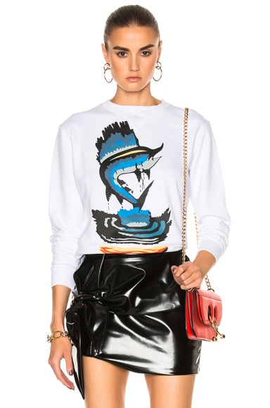 J.W. Anderson Sweatshirt with Marlin in White