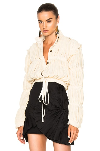 Pleated Gauze Jacket