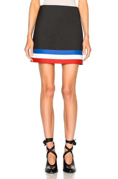 J.W. Anderson A Line Mini Skirt in Blue & Red