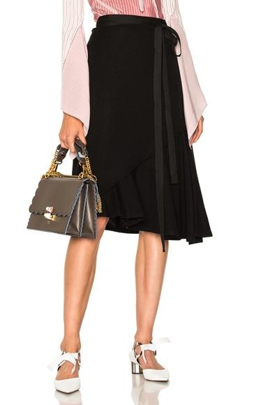 Drape Wool Asymmetric Skirt J.W. Anderson