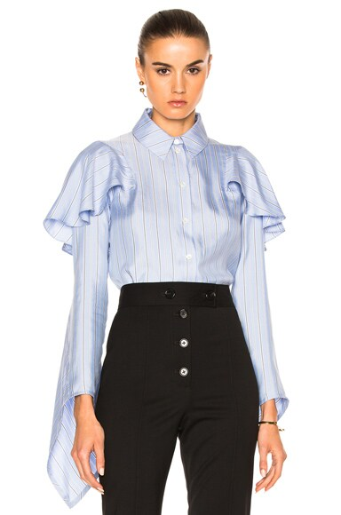 J.W. Anderson Cascade Sleeve Top in Baby Blue