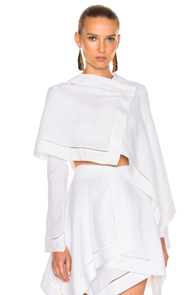 J.W. Anderson Folder Crop Top in White