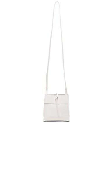 Kara Nano Tie Crossbody Bag in White