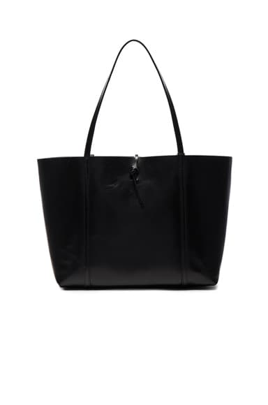 Kara Tie Tote in Black