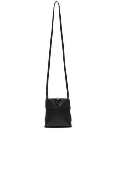 Kara Nano Tie Crossbody Bag in Black