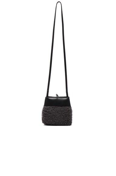 Shearling Nano Tie Crossbody Bag