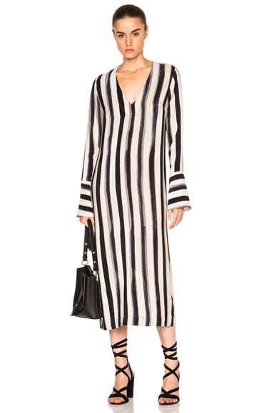 Kate Sylvester Inez Dress in Black & Ivory