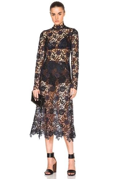 Kate Sylvester Pola Dress in Black Lace