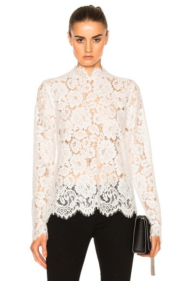 Kate Sylvester Paulette Top in White Lace