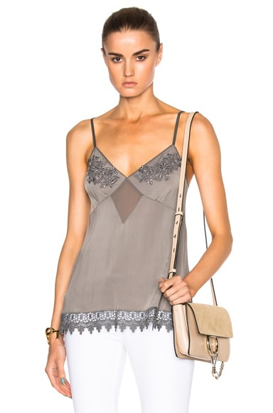 Kate Sylvester Susie Cami Top in Grey