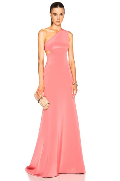 KAUFMANFRANCO Crepe Gown in Pink
