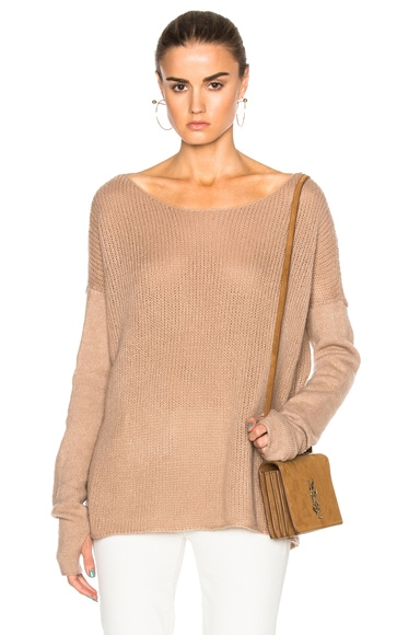 KAUFMANFRANCO Cashmere Gauze Sweater in Ginger