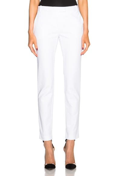 KAUFMANFRANCO Compact Cotton Trousers in Optic
