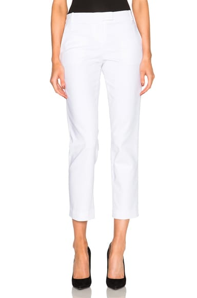 KAUFMANFRANCO Compact Cotton Trousers in White