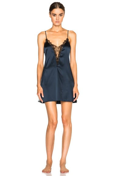 Kiki de Montparnasse Lace Inset Nightie in Black & Midnight