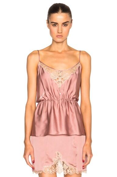 Kiki de Montparnasse Le Reve Cami Top in Rose & Nude