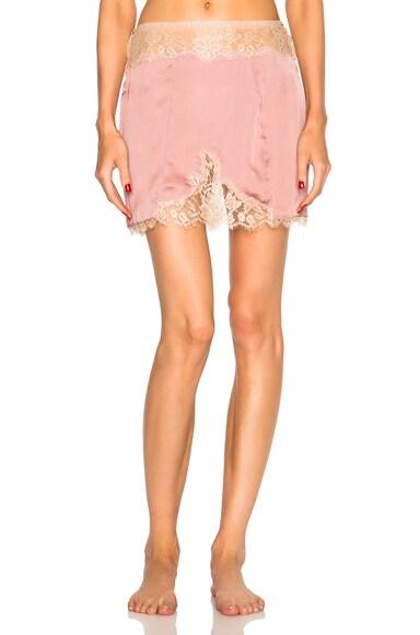 Kiki de Montparnasse Le Reve Slip Skirt in Rose & Nude