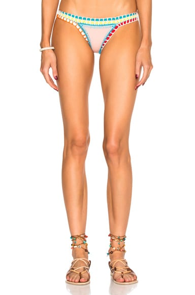 KIINI Luna Bikini Bottom in Nude Multi